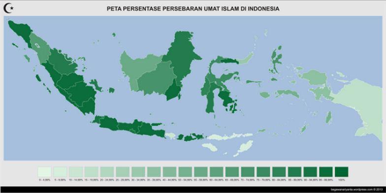 peta persebaran umat islam di indonesia