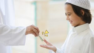 Bagi Uang THR Untuk Anak-Anak