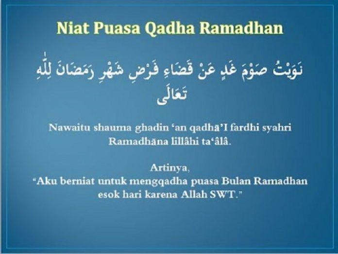 Niat Puasa Qadha