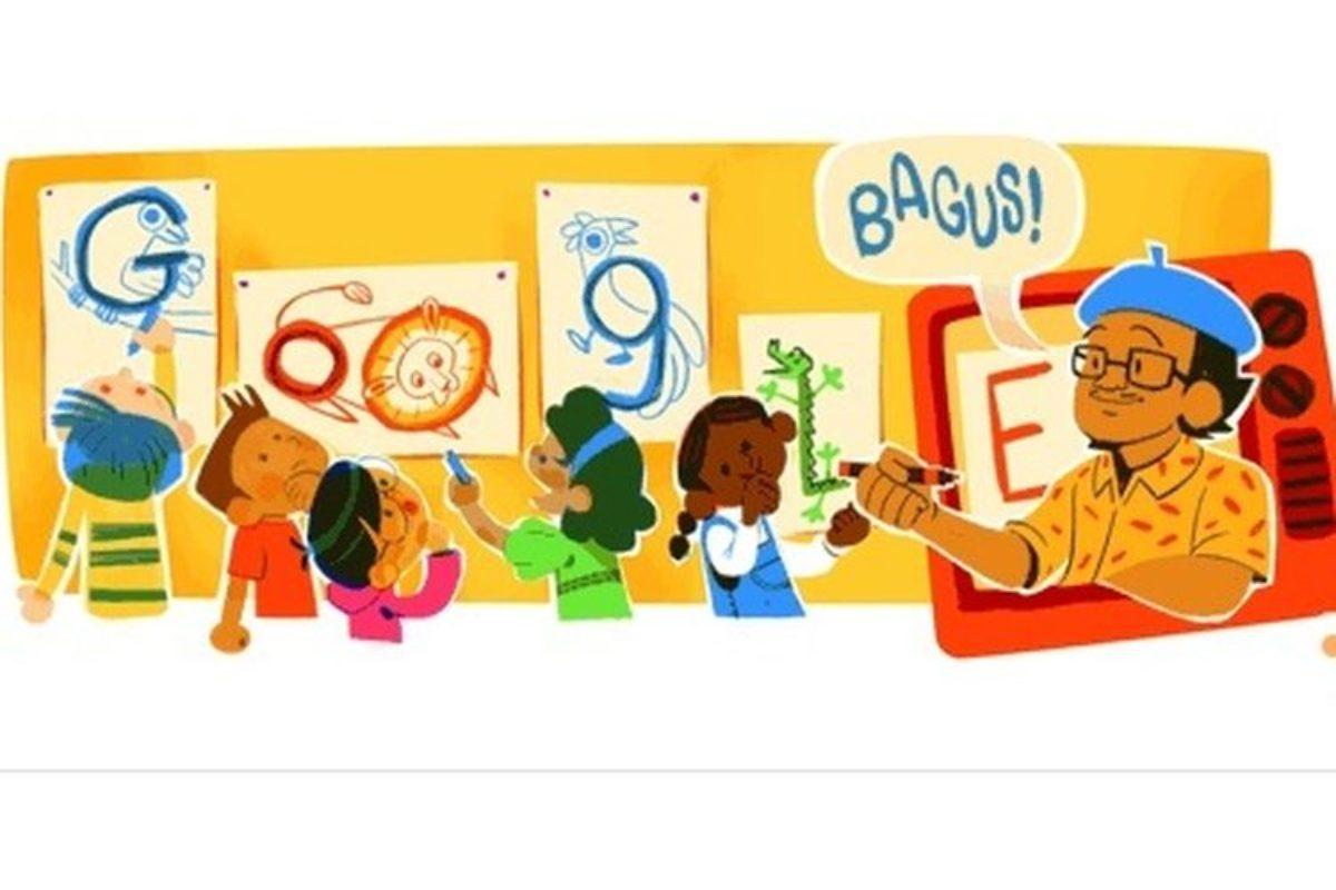 Seniman Tino Sidin Jadi Google Doodle